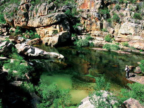 Prime yellowfish habitat on the Olifants River